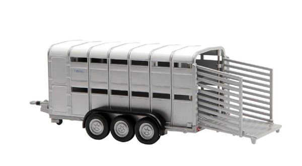 Tomy Britains Ifor Williams Tri-Axle Toy Livestock Trailer - 1:32 Scale